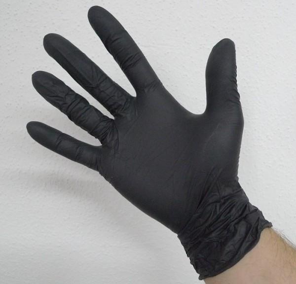 Nitril Untersuchungs-Handschuhe schwarz 100 Stück